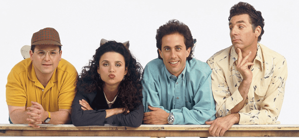The four members of the Seinfeld cast
