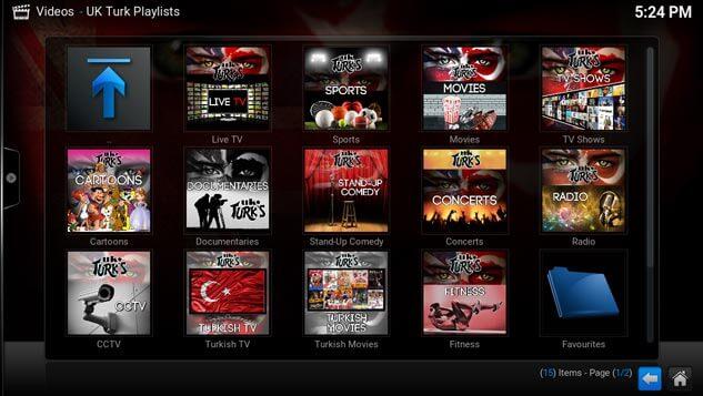 UK Turks' Playlist for Kodi