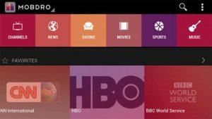 Mobdro free streaming service
