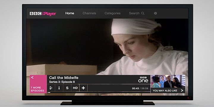 watch Call the Midwife is by using the BBC iPlayer