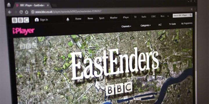 watching Eastenders online using iPlayer