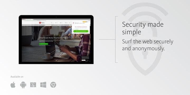 Avira Phantom VPN Pro offers