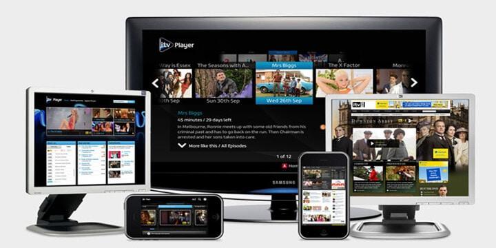 iTV hub outside UK