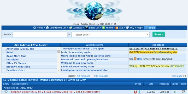EZTV as YIFY Alternatives