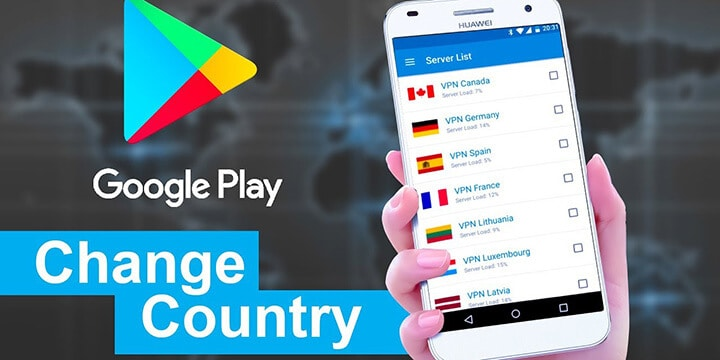 Google Play Change Country