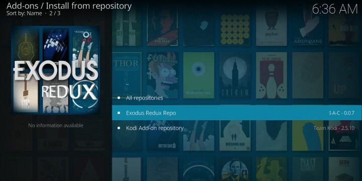 Installing Exodus Redux on Kodi
