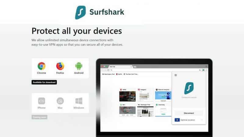 Surf Shark VPN Features