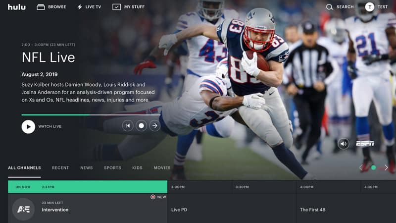 Hulu streaming Super Bowl