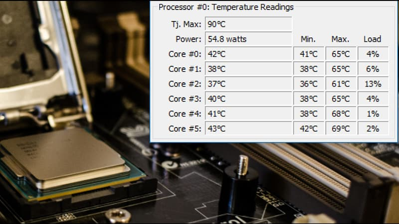 Monitor your CPU Temperature in Windows 10