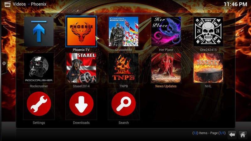 Install Phoenix Kodi Channels