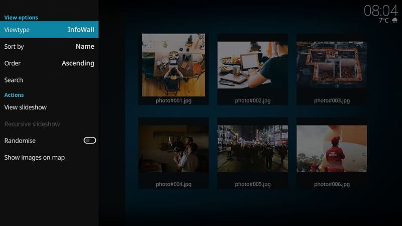 Add images to your Kodi player