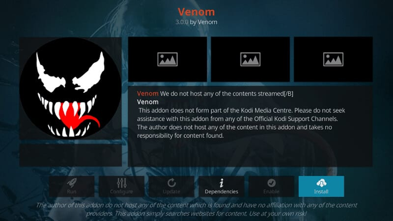 Venom Kodi Features